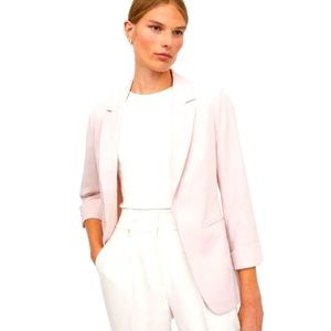 H&M Pale Pink Fitted Blazer